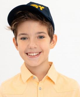 бейсболка button blue для мальчика, синяя