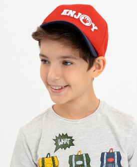 бейсболка button blue для мальчика, красная