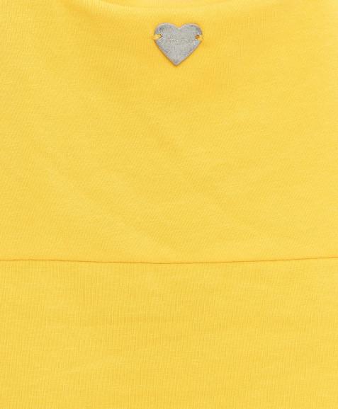 Желтая майка с принтом