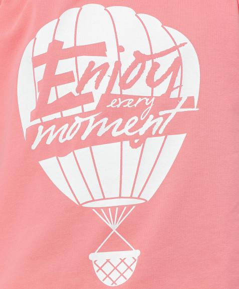 Розовая майка с принтом