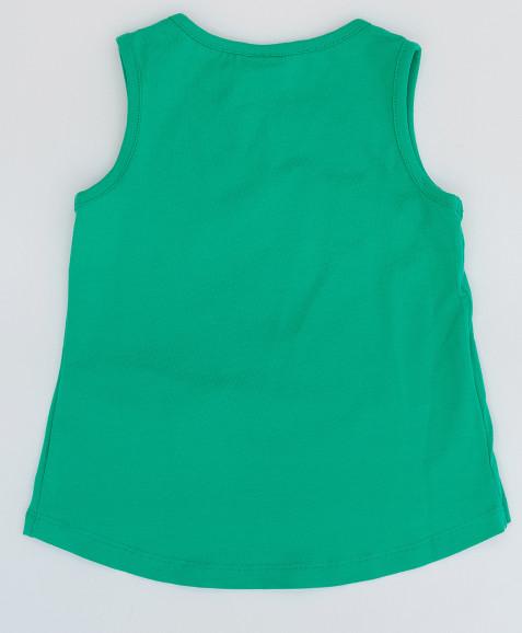 Зеленая майка с принтом