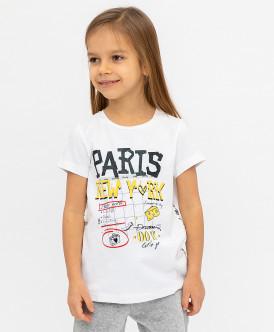 Белая футболка с принтом 120BBGC12070200 фото