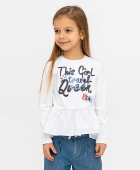 Белая футболка с баской