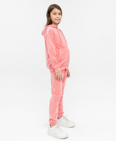 Розовая велюровая толстовка