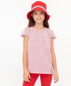 блузка button blue для девочки, розовая