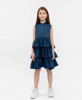 Синее платье 120BBGC25011000 фото