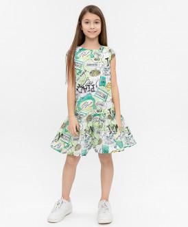 Платье с орнаментом 120BBGC25040013 фото