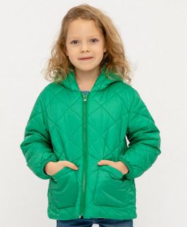 куртка button blue для девочки, зеленая