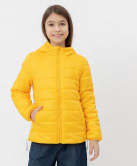 куртка button blue для девочки, желтая