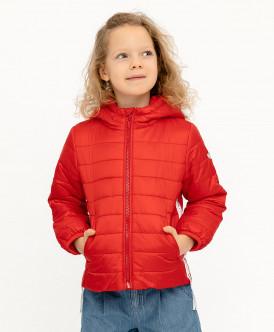 куртка button blue для девочки, красная