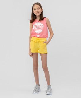 шорты button blue для девочки, желтые