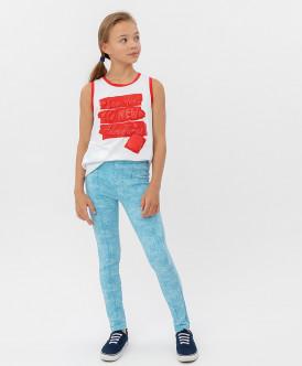 брюки button blue для девочки, голубые