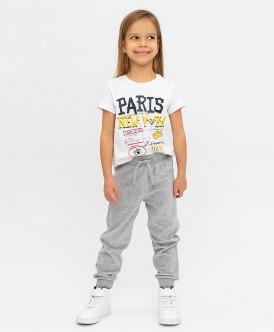 Купить 120BBGC56061900, Серые велюровые брюки Button Blue, серый, 98, Девочки
