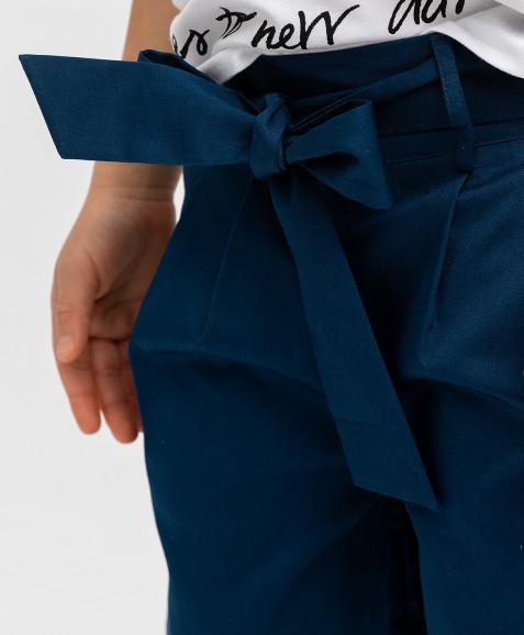 Синие шорты с поясом