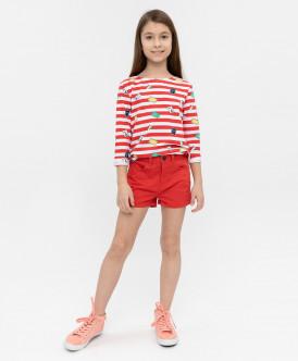 шорты button blue для девочки, красные