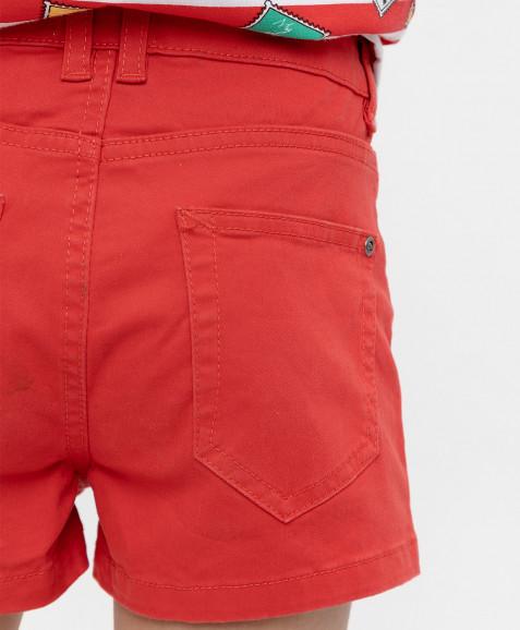 Красные твиловые шорты