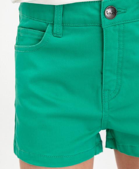Зеленые твиловые шорты