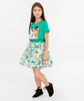 юбка button blue для девочки, зеленая