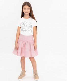 юбка button blue для девочки, розовая