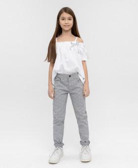 Серые твиловые брюки Button Blue