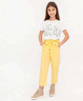 брюки button blue для девочки, желтые