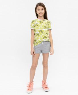 шорты button blue для девочки, серые