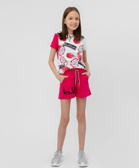 шорты button blue для девочки, розовые