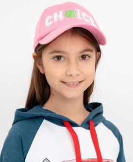бейсболка button blue для девочки, розовая