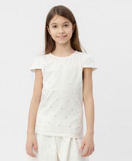 Белая футболка с коротким рукавом 120BBGP12020200 фото