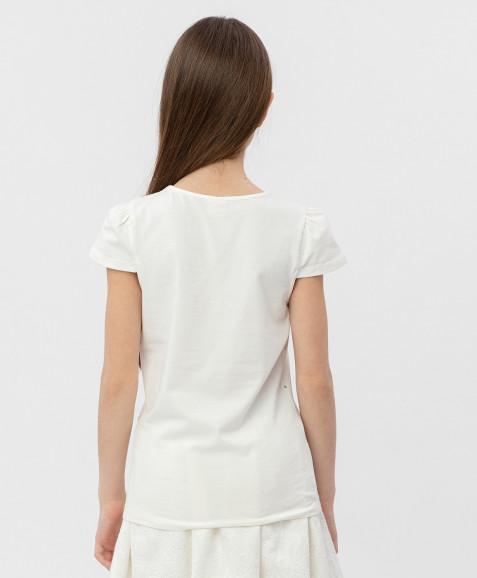Белая футболка с коротким рукавом Button Blue