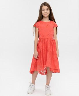 """Розовое платье с орнаментом """"Розы"""" Button Blue"""