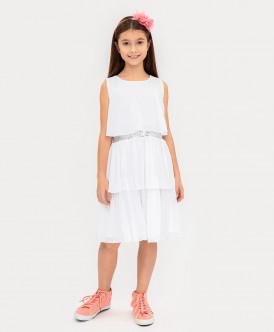 Нарядное платье молочного цвета Button Blue