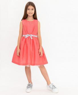 Коралловое нарядное платье Button Blue