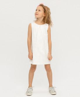 Белое жаккардовое платье