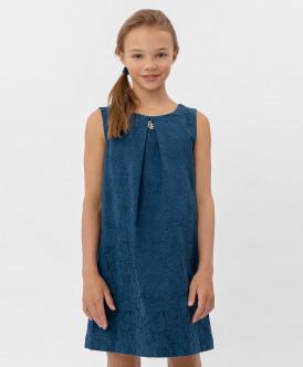 Купить 120BBGP25041000, Синее жаккардовое платье Button Blue, синий, 152, Девочки