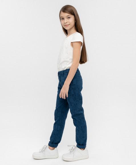 Синие жаккардовые брюки