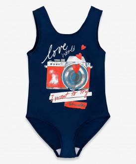 купальник button blue для девочки, синий