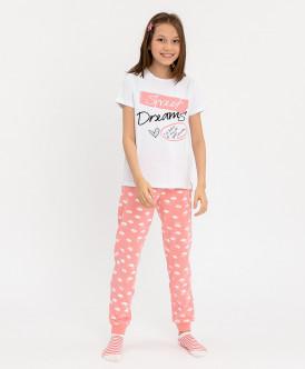 Пижама с брюками для девочки Button Blue