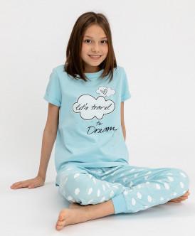 Пижама с брюками для девочки 120BBGU97011813 фото