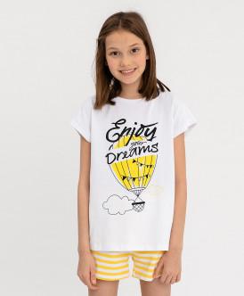 Пижама с шортами для девочки
