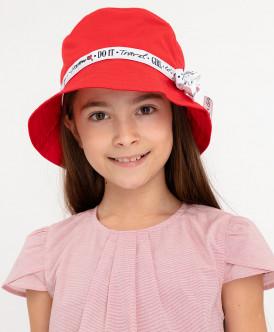 панама button blue для девочки, красная