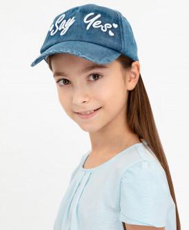 кепка button blue для девочки, синяя