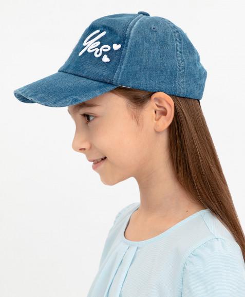 Синяя джинсовая кепка