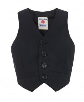 Купить 217BBBP47010800, Жилет Button Blue, черный, 128, Мальчики