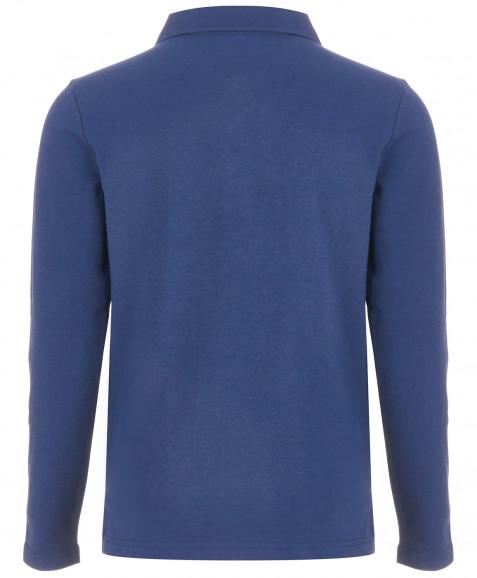 Поло Button Blue