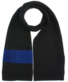 шарф button blue для мальчика, черный