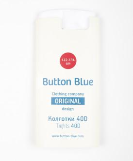 Белые колготки с орнаментом Button Blue