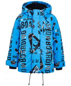 Голубая зимняя куртка с орнаментом Button Blue