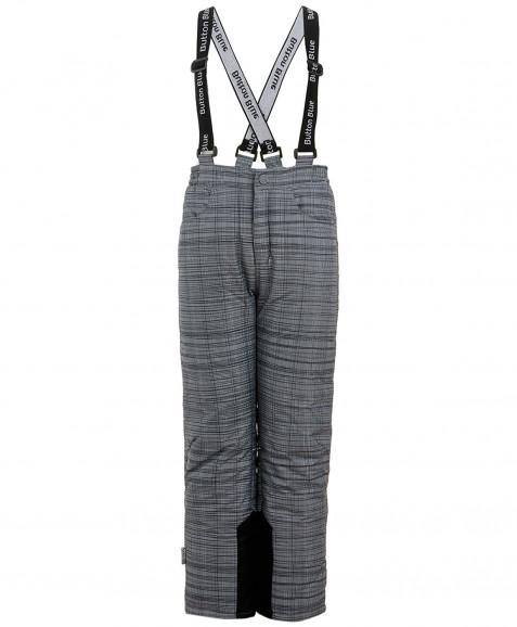 Клетчатые утепленные зимние брюки