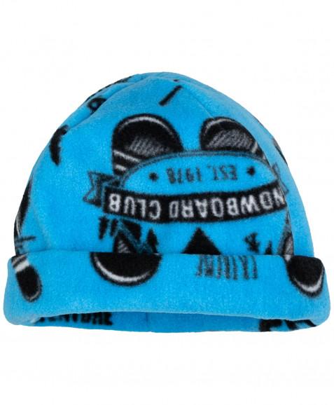 Синяя флисовая шапка